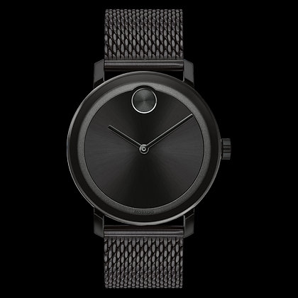 MOVADO BOLD EVOLUTION Black Sunray Dial Matching sunray dot and hand