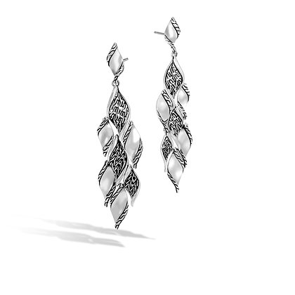 JOHN HARDY Classic Chain Silver Drop Earrings