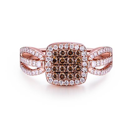 BELLANITA 14K Rose Gold Flip Ring