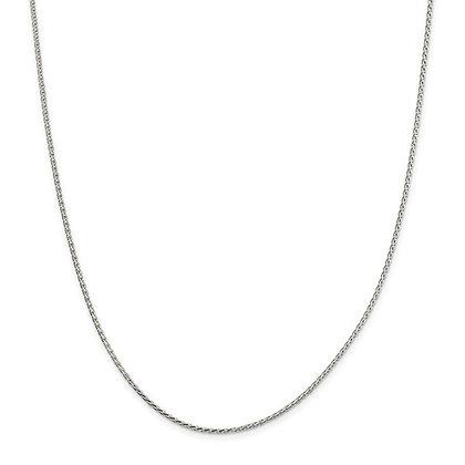 "QG Sterling Silver 20"" Chain"