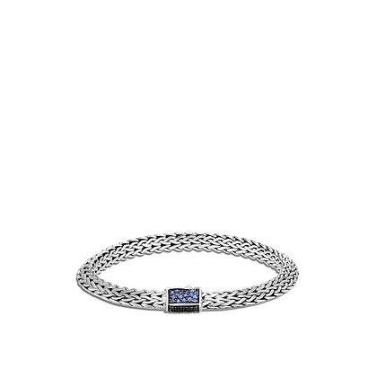 JOHN HARDY Tiga Chain Bracelet with Blue & Black Sapphire, Spinel M 6.5mm