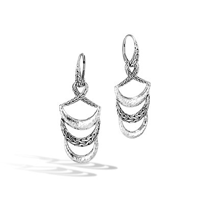 JOHN HARDY Classic Chain Hammered Silver Drop Earrings