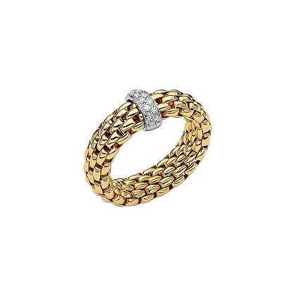 FOPE Vendome Flex'it ring with diamonds