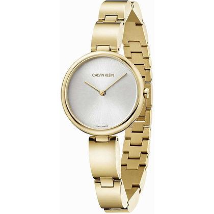 CALVIN KLEIN Watch Wavy Gold Stainless Steel Bracelet