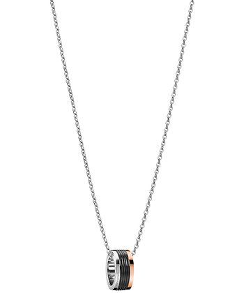 CALVIN KLEIN Blast Stainless Steel/ black/ rose Necklace