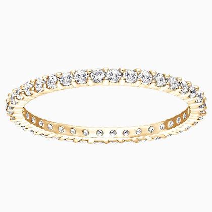 SWAROVSKI Vittore Ring, White, Gold-tone plated size 5,6,7,8 and 9.
