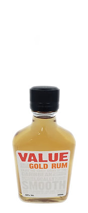 Blackbeard's Value Rum Flask 200ml