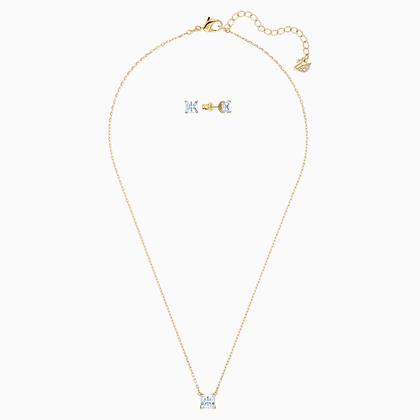 SWAROVSKI Attract Set, White, Gold-tone plated