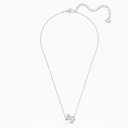 SWAROVSKI  Attract Soul Necklace, Pink, Rhodium plated