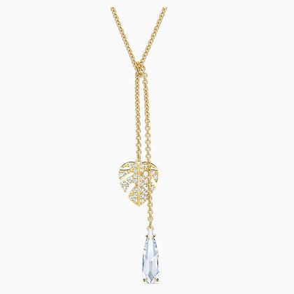 SWAROVSKI Tropical Necklace, White, Gold-tone plated