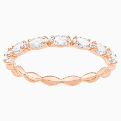 SWAROVSKI Vittore Marquise Ring, White, Rose-gold tone plated Size 5,6,7,8 & 9