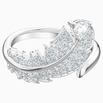 SWAROVSKI Nice Motif Ring, White, Rhodium plated Size 6