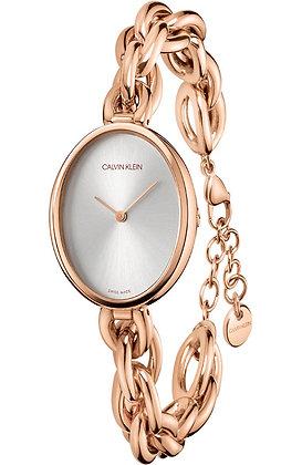 CALVIN KLEIN Statement Rose Gold Stainless Steel Bracelet
