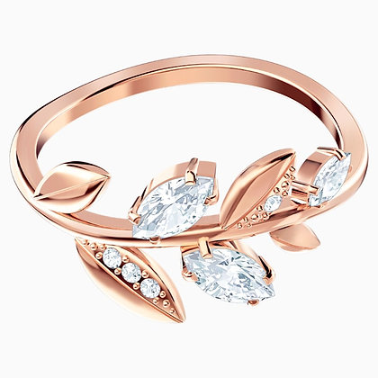 SWAROVSKI Mayfly Ring, White, Rose-gold tone plated Size 6 and 8