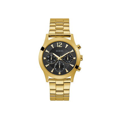GUESS SKYLAR WOMEN'S MULTiFUNCTiON WATCH Black Dial Gold Plated Stainless Steel