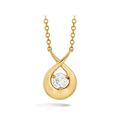 Hearts On Fire Dc20 18Kyg Optima Single Diamond Pendant .22-.26Tcw