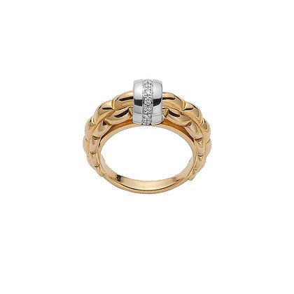 FOPE Eka ring with diamonds
