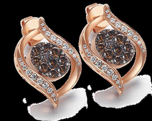 BELLANITA 14K Rose Gold Flip Earrings