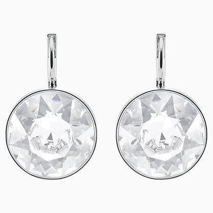 SWAROVSKI Bella Pierced Earrings, White, Rhodium plated