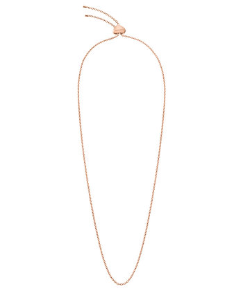 CALVIN KLEIN Side Stainless Steel rose gold Necklace