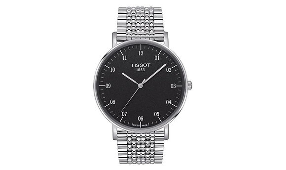 TISSOT EVERYTIME LARGE MEN'S WATCH Black Dial