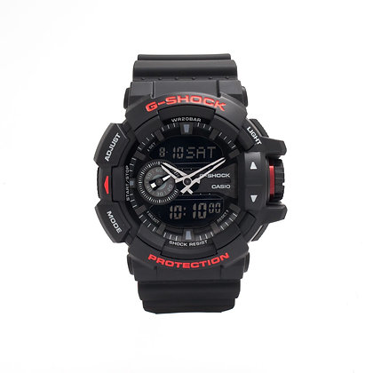 CASIO G-SHOCK BLACK AND RED SERIES