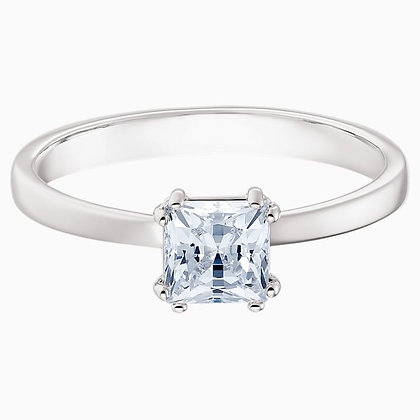 SWAROVSKI Attract Motif Ring, White, Rhodium plated. Size 5,6,7,8 and 9