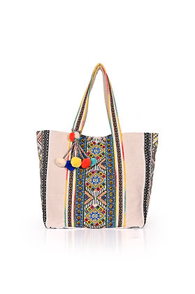 Turkish Sea Embellished Tote