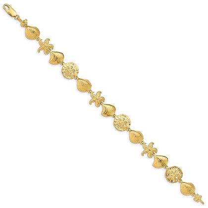 QG 14k Sea Life Bracelet