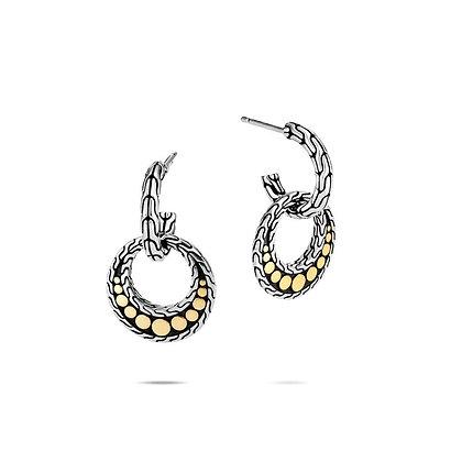JOHN HARDY Dot Drop Earring with 18k Yellow Gold dots
