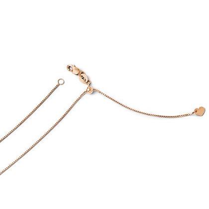 QG Leslie's 14K Rose Gold Adjustable .8mm Box Chain