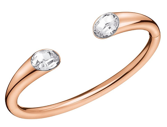 CALVIN KLEIN Brilliant Open Stainless steel Rose Gold Bangle