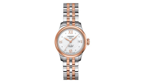 TISSOT LE LOCLE AUTOMATIC LADY Silver Dial with Diamonds
