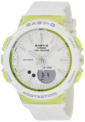 CASIO BABY G RUNNING SERIES White and Green