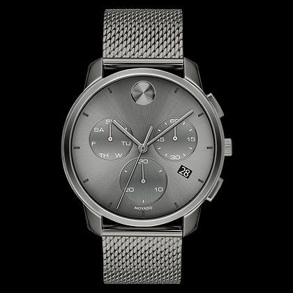 MOVADO BOLD THIN Grey Chronograph Dial Mesh Bracelet