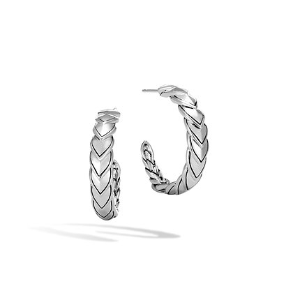 JOHN HARDY Legends Naga Silver Sm Hoop Earrings
