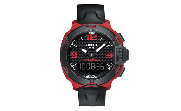 TISSOT T-RACE TOUCH RED ALUMINUM MEN'S SPORTS WATCH