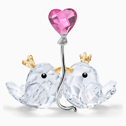 SWAROVSKI Love Birds, Pink Heart