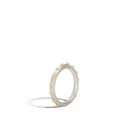 JOHN HARDY Dot Gold & Silver 4.5mm Band Ring Size 7