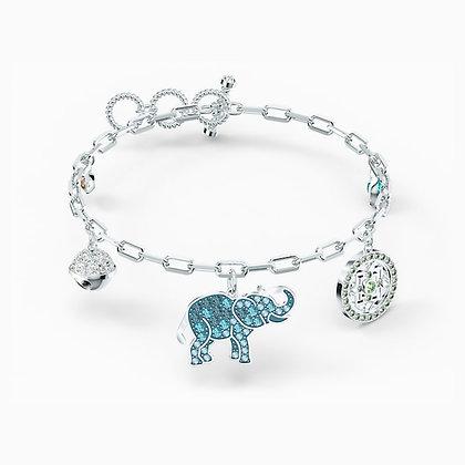 SWAROVSKI  Symbolic Elephant Bracelet, Light multi-coloured, Rhodium plated