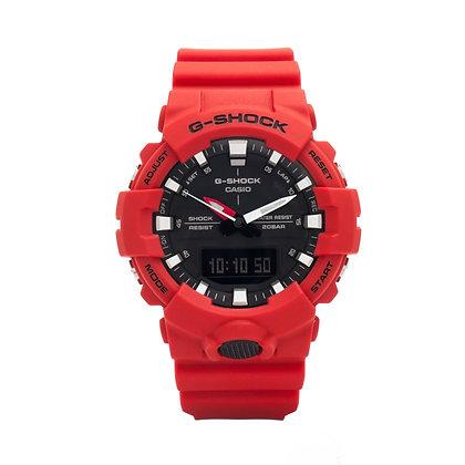 CASIO G-SHOCK Analog-Digital Black Dial Men's Watch in red