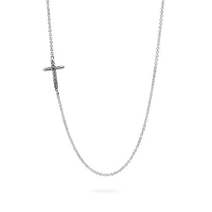 JOHN HARDY Classic Chain Cross Necklace SZ 20-21