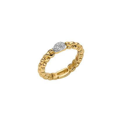 FOPE Eka Ring with diamond PAVE