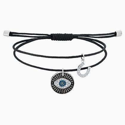 SWAROVSKI Unisex Evil Eye Bracelet, Multi-colored, Stainless steel