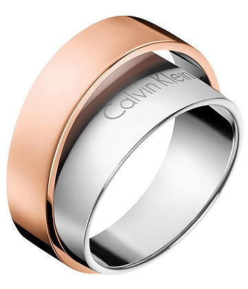 CALVIN KLEIN Unite Stainless Steel/ rose gold Ring