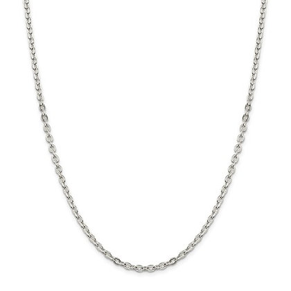 "QG STERLING SILVER 3.5mm CABLE 20"" CHAIN"