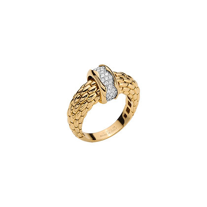 FOPE Love nest ring with diamonds