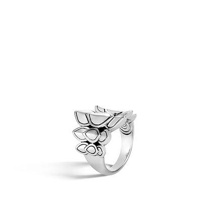 JOHN HARDY Legends Naga Silver Small Saddle Ring 21mm, Sz 7