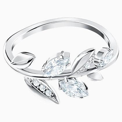 SWAROVSKI Mayfly Ring, White, Rhodium plated Size 8