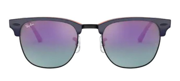 RAYBAN Clubmaster in top blue on Havana red
